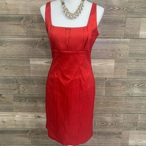 CALVIN KLEIN Lady in Red fitted dress size 6